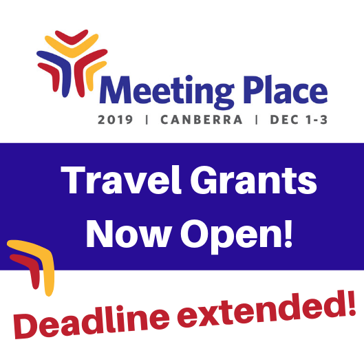 Meeting Place logo with the words Travel Grants Now Open: Deadline Extended!