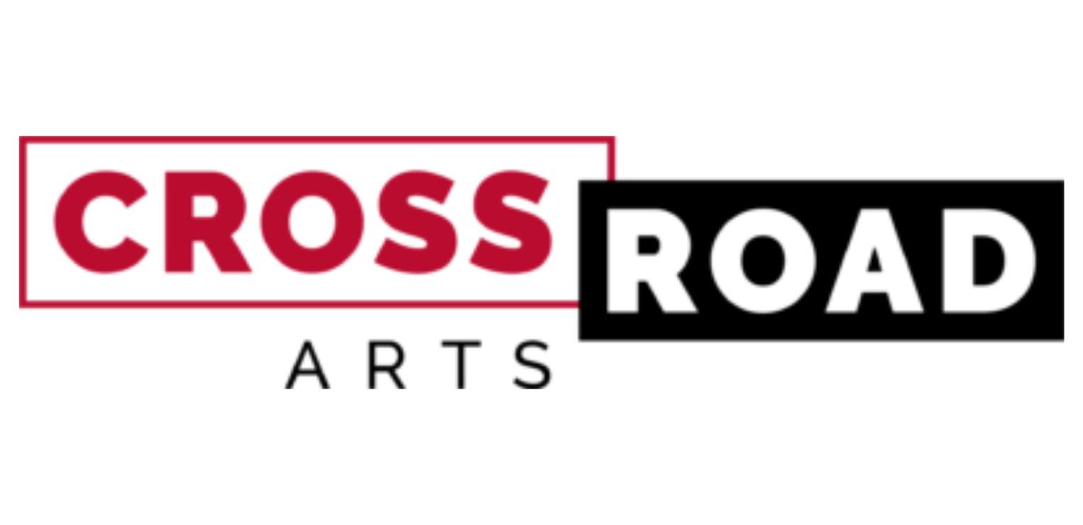 Image Description: A red, black, and white logo reading 'Crossroad Arts'